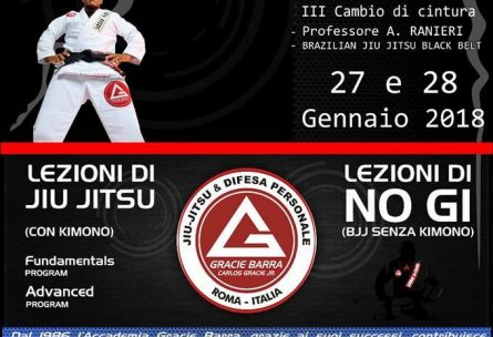 Stage Brazilian Jiu Jitsu a Roma